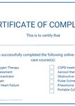 Long term care oxygen therapy training modules - VitalAire Certificate of Completion
