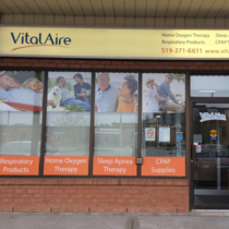 outside view of vitalaire Owen Sound Oxygen clinic
