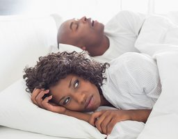 Snoring caused by sleep apnea
