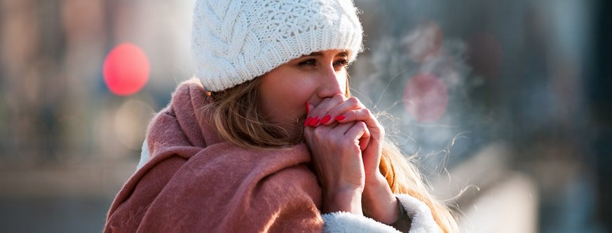 Cold breath in winter - an increase in dry air