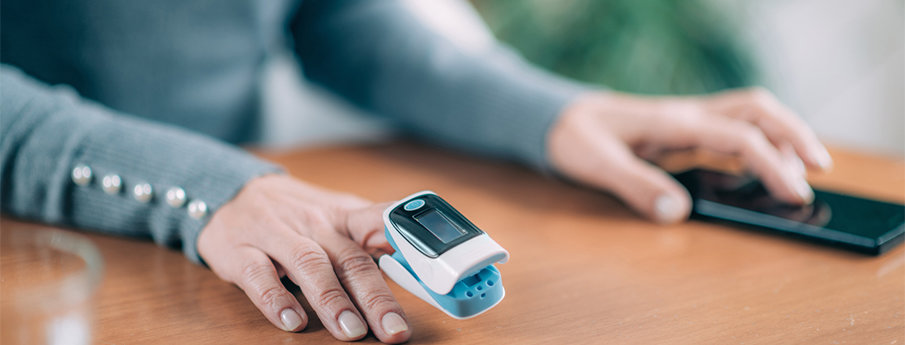 Home Oxygen Therapy Pulse Oximeter