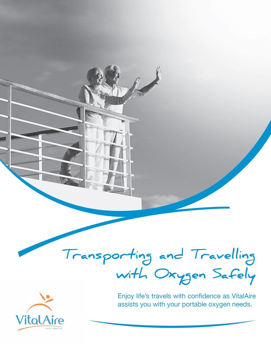 VitalAire's travelling with oxygen brochure