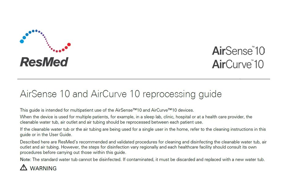 AirCurve 10 cleaning guide cover