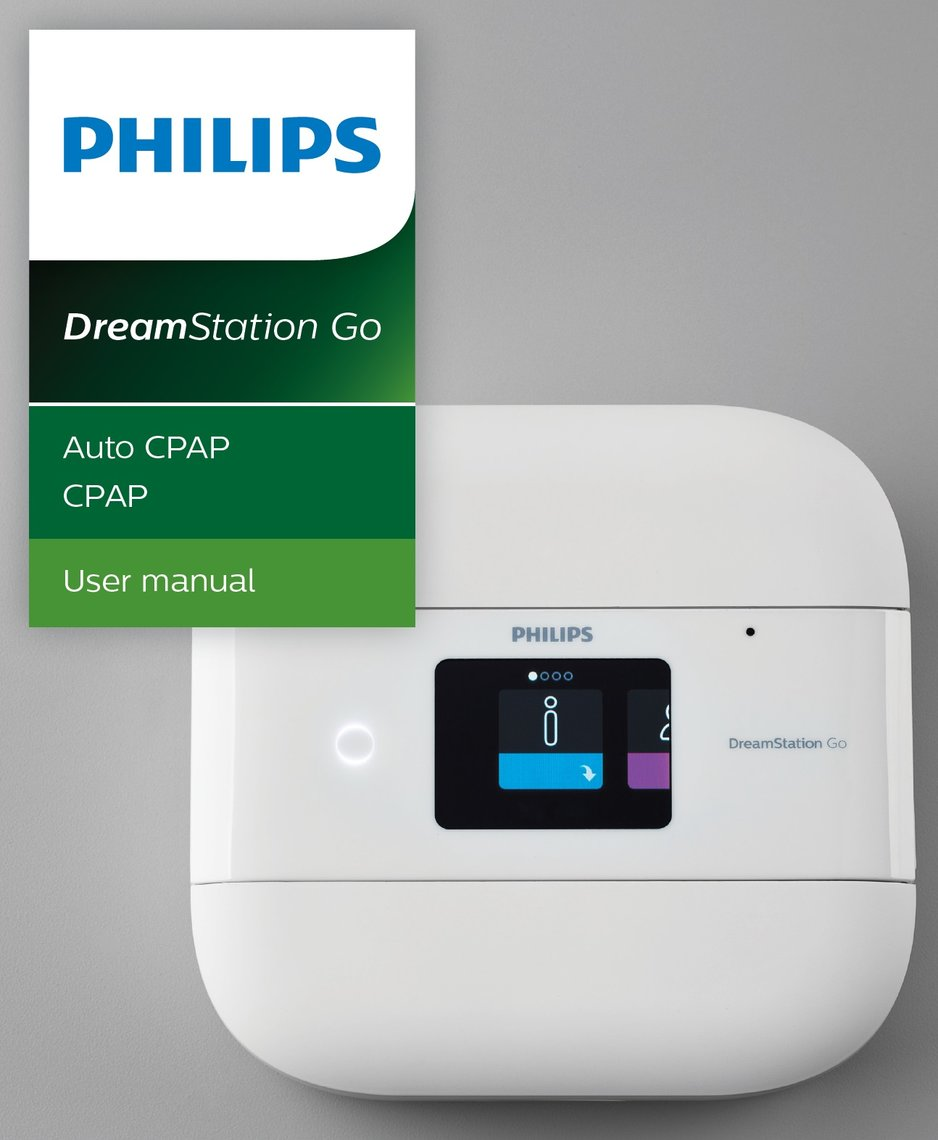 Respironics' Dreamstation Go, sold at VitalAire User Guide
