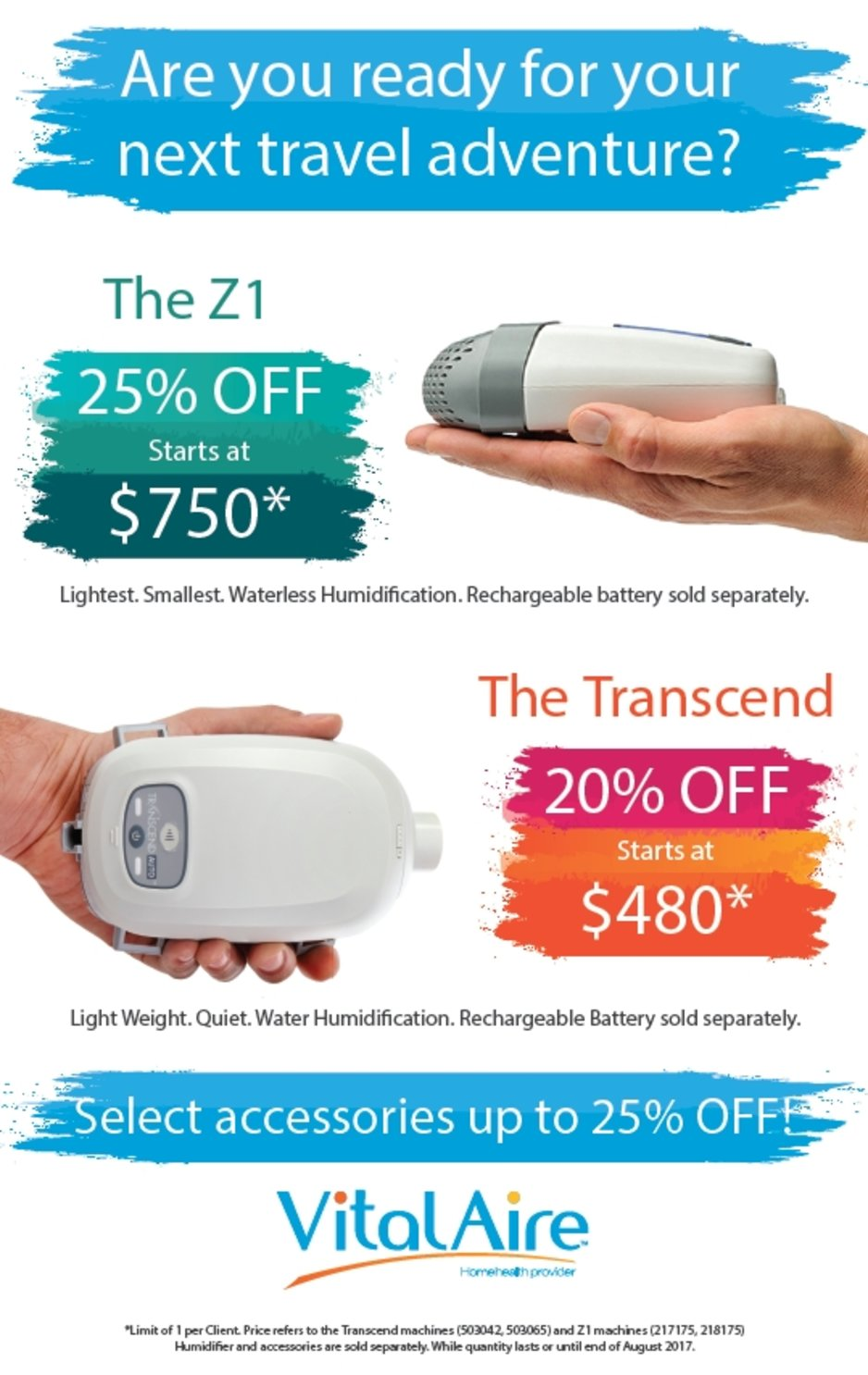 Travel CPAP Sale | CPAP supplies | VitalAire