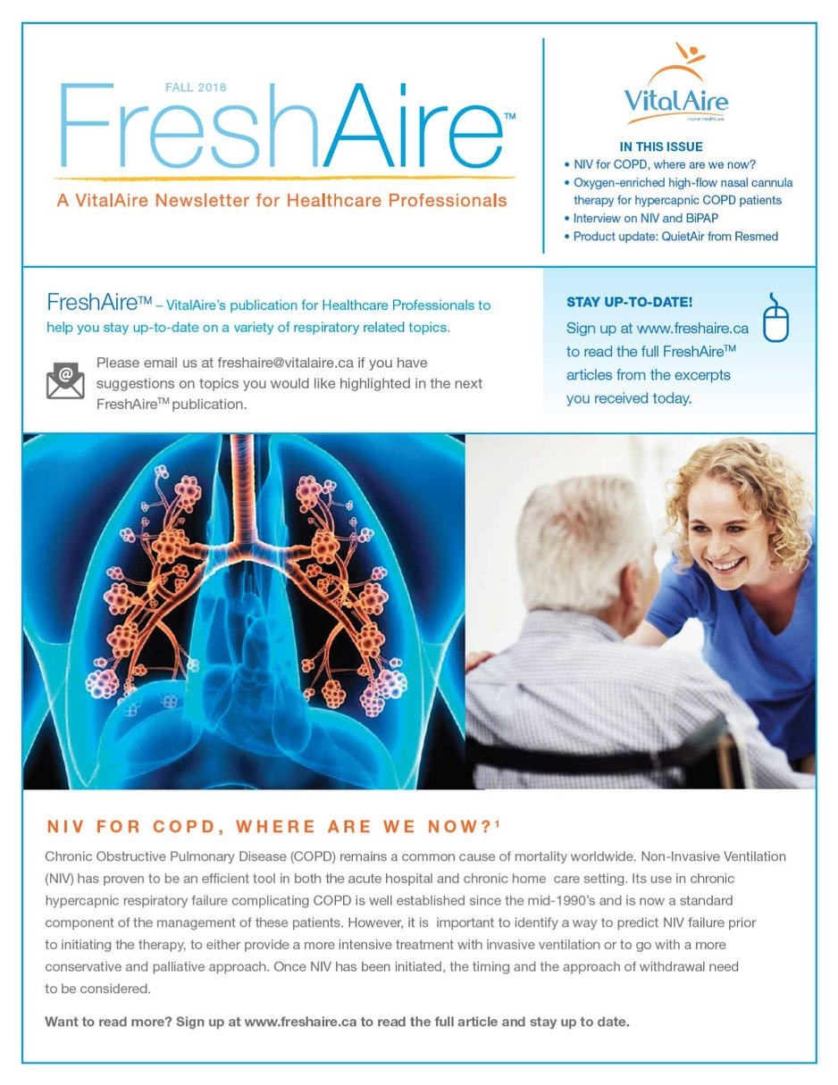 FreshAire Newsletter Example