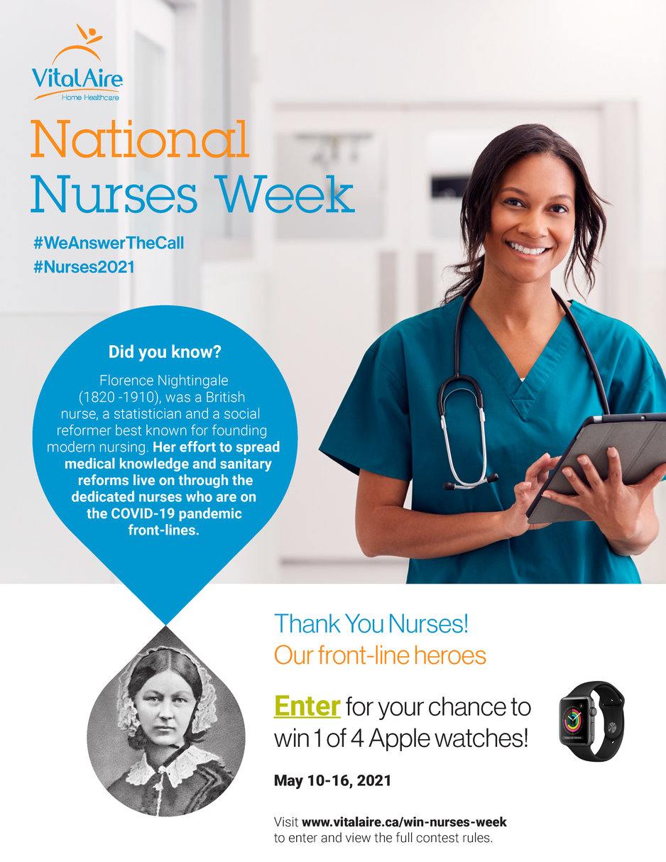 VitalAire celebrates Nurses Week 2021 with a contest! Enter for a chance to win