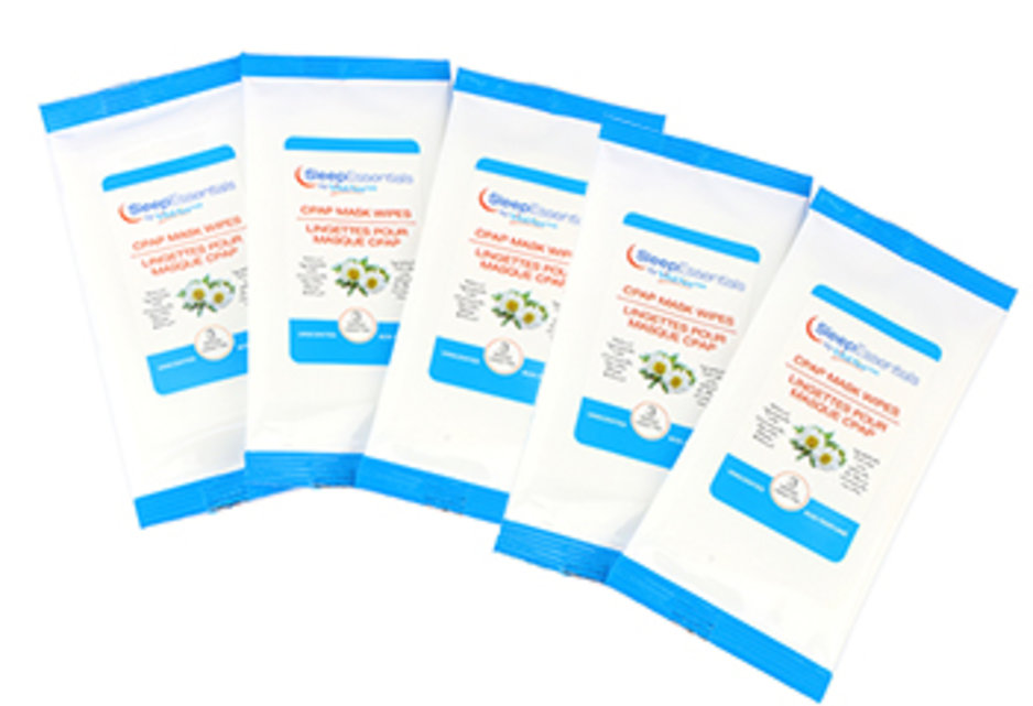 Travel pack cpap wipes