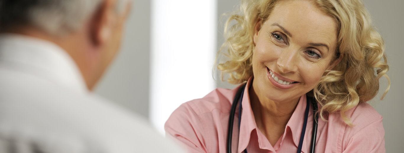 Homecare rep with healthcare professional